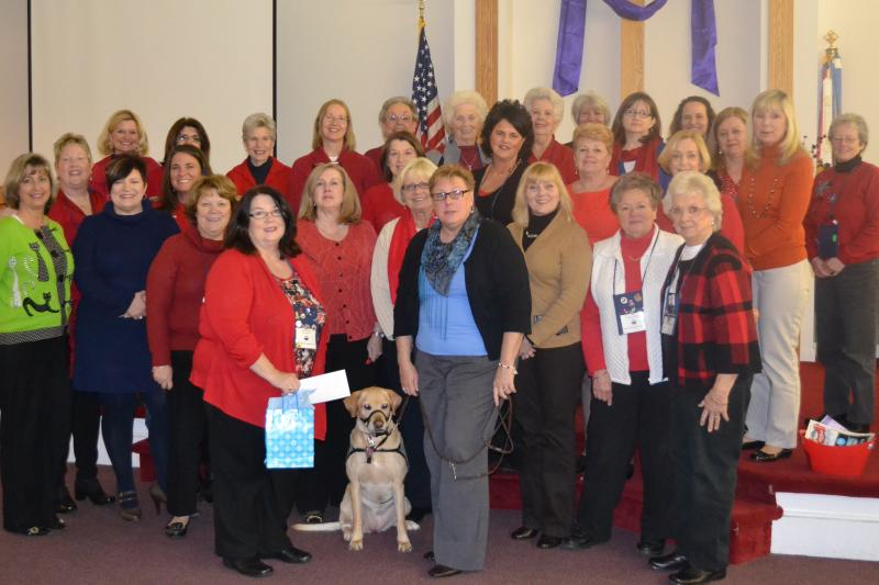 Supporting our Veterans through Canines for Service at recent Club Meeting
